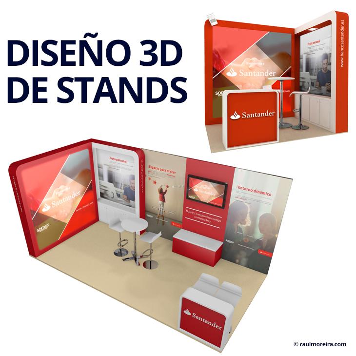 Diseño 3D de stands y diseño gráfico para eventos