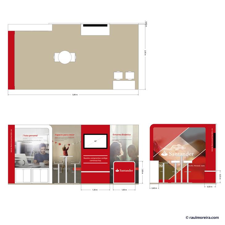 Diseño 3D de stands y diseño gráfico para eventos planos