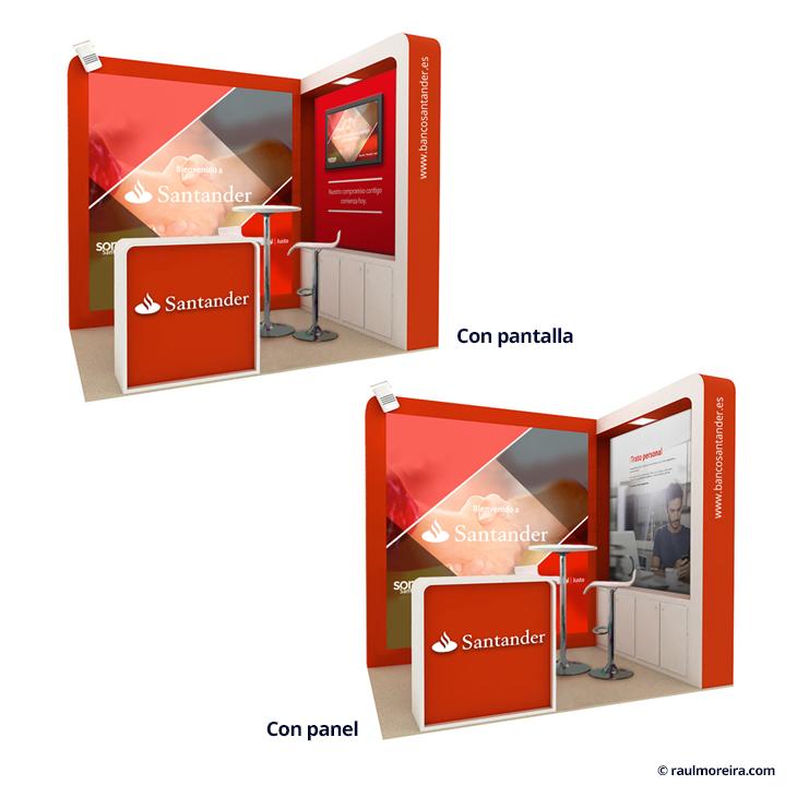 Diseño 3D de stands y diseñador de stands virtuales en tres dimensiones