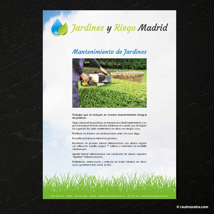 Hoja informativa, diseño publicitario en Madrid con precios