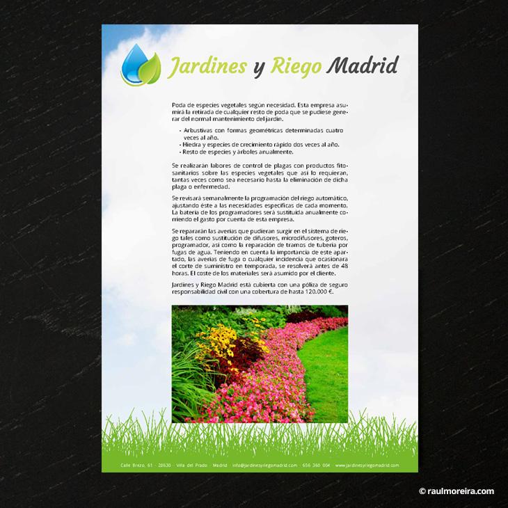 Hoja informativa, diseño publicitario en Madrid con precios 2