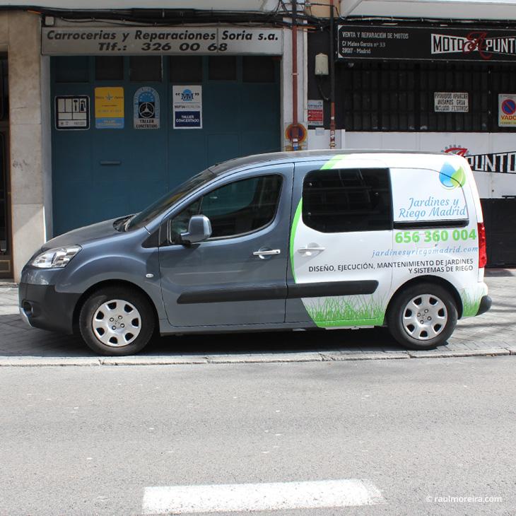 Rotulación furgoneta Peugeot Partner Tepee foto 1, diseño publicitario en Madrid
