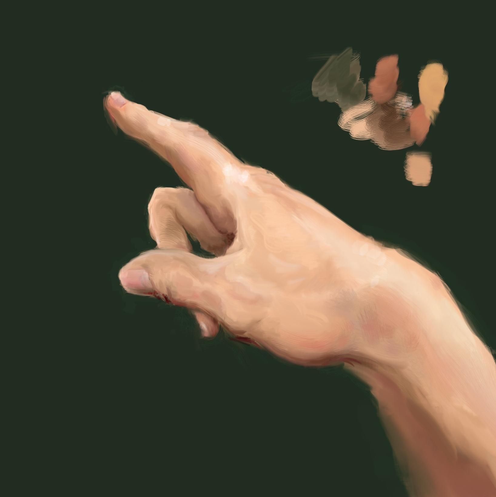 Ilustración de mano realista