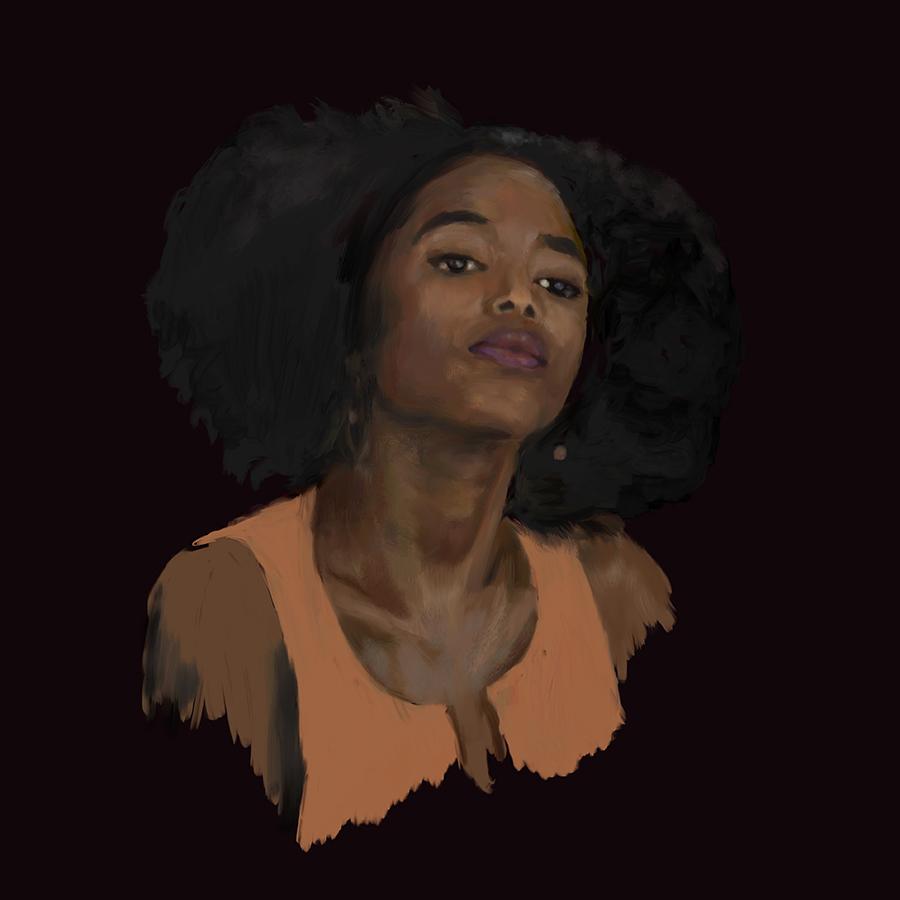 Ilustración realista retrato