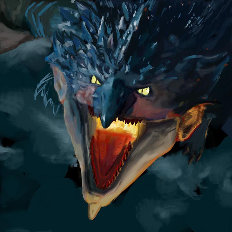 Ilustrador de monstruos fantásticos