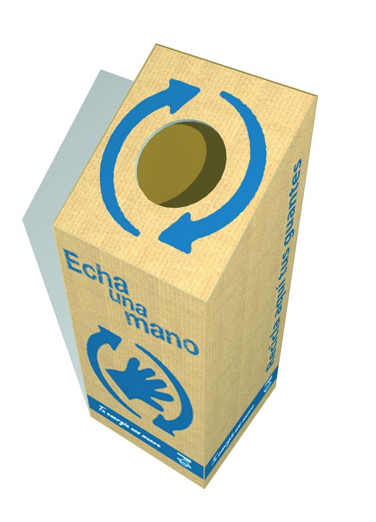 Caja reciclaje - 3D Pieza