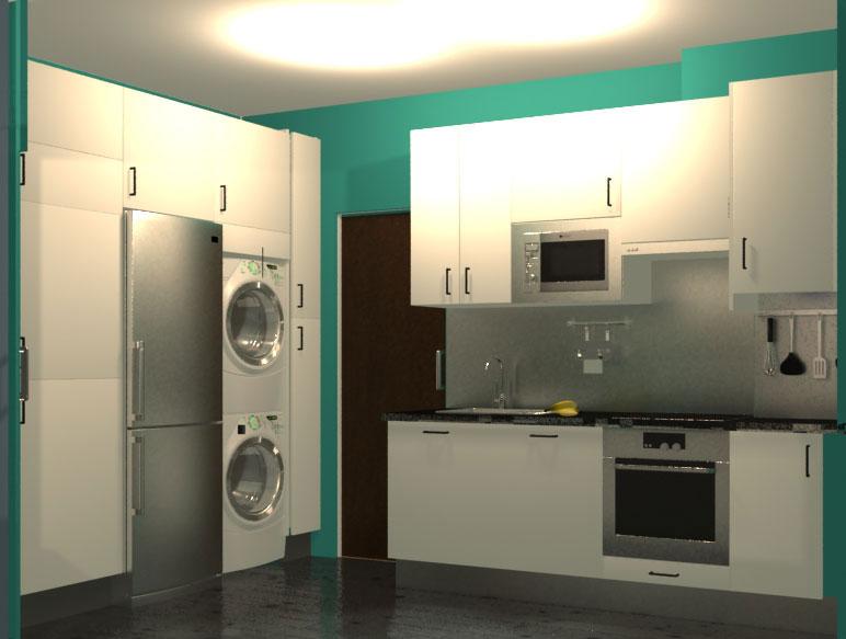 Cocina - 3D arquitectura