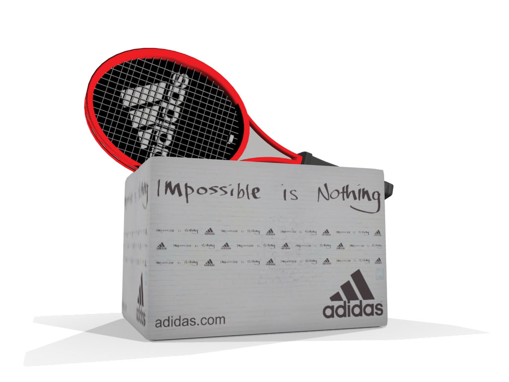 Hinchable Adidas - 3D evento