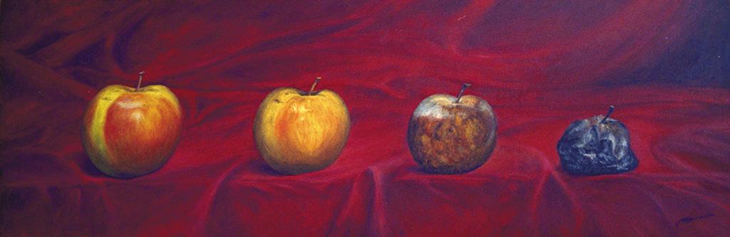 Manzanas - óleo