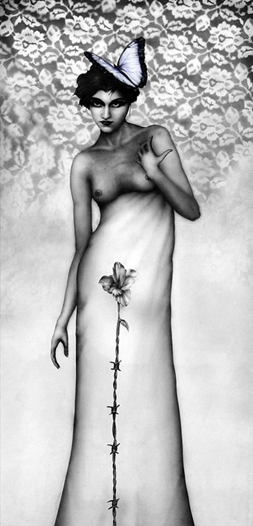 Primavera, simbolismo aerografía dark gothic y realista