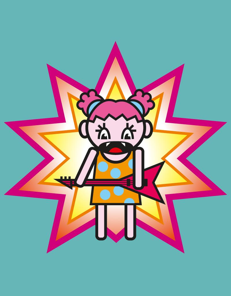 Rock in Japan, ilustrador vectorial flat svg freelance infantil