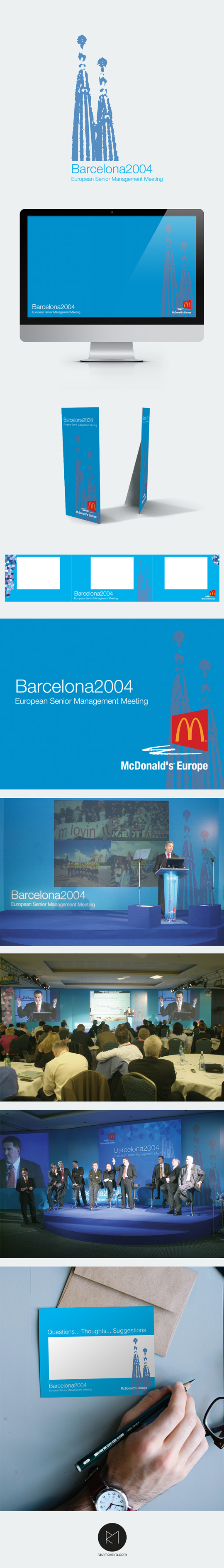 McDonalds European Senior Management Meeting, logotipos creativos Madrid