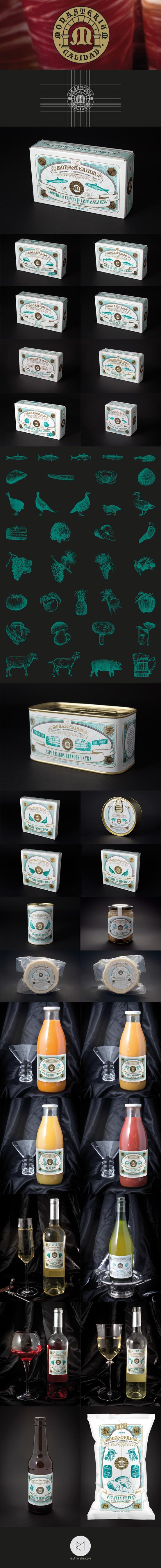 Monasterium, diseño etiquetas packaging envases personalizados en Madrid
