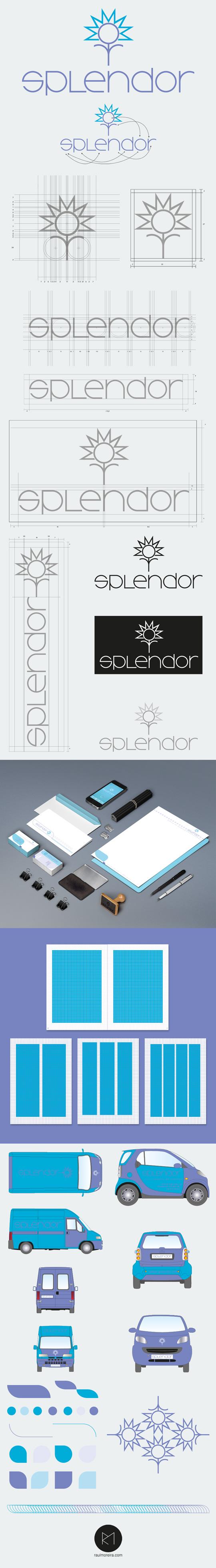 Splendor, logos de empresas de servicios logotipos creativos