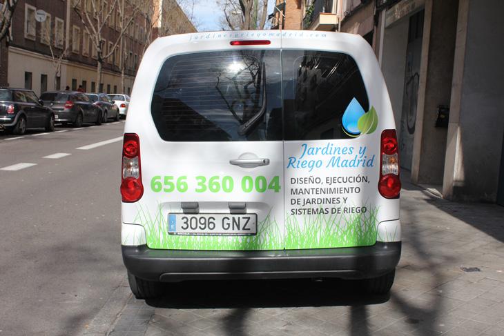 decoración furgoneta Peugeot Partner Tepee foto 4, diseño publicitario en Madrid