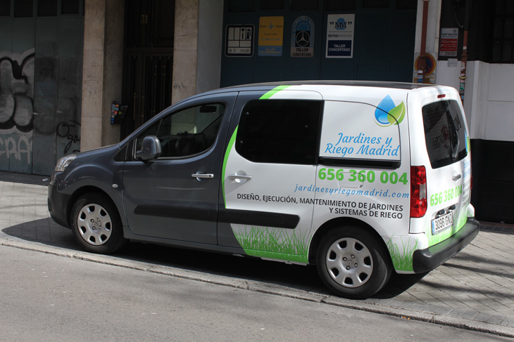 rotulado furgoneta Peugeot Partner Tepee foto 5, diseño publicitario en Madrid