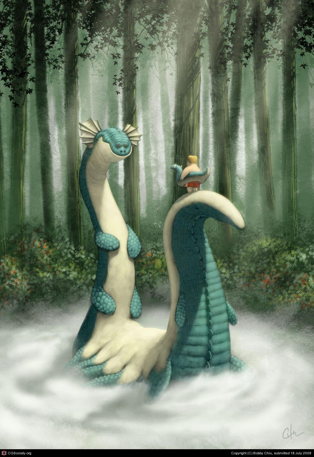 ilustración de Bobby Chiu personaje