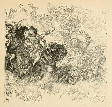 Daniel Vierge. Ilustración para La Historia de Francia.