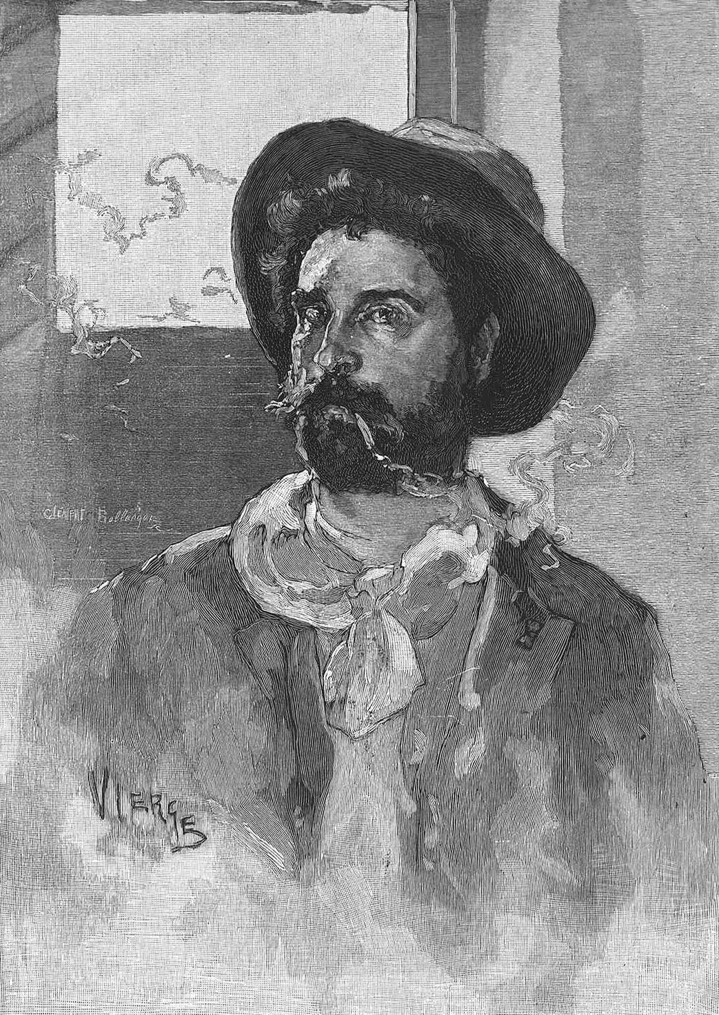 Daniel Urrabieta Vierge. Autorretrato