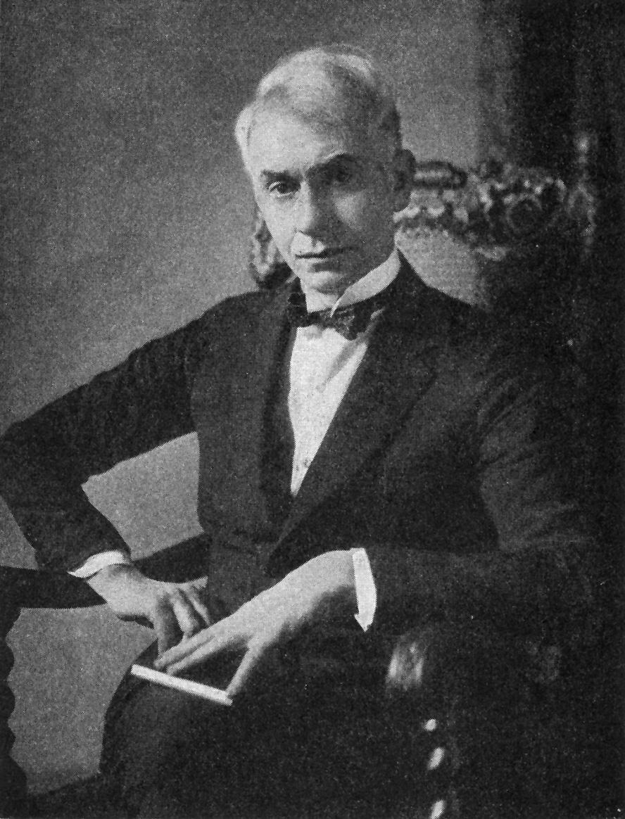 Franklin Booth fotografiado por A. Harper en 1925