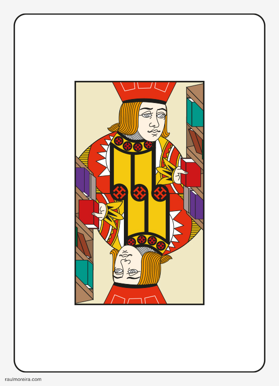 La biblioteca de Babel. Ilustración Raúl Moreira. Ilustrador vectorial freelance en Madrid. Ilustrador autónomo para agencias, estudios y editoriales.