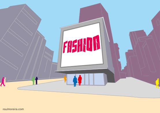 Fashion Street. Ilustración Raúl Moreira. Ilustrador vectorial freelance en Madrid. Ilustrador autónomo para agencias, estudios y editoriales.
