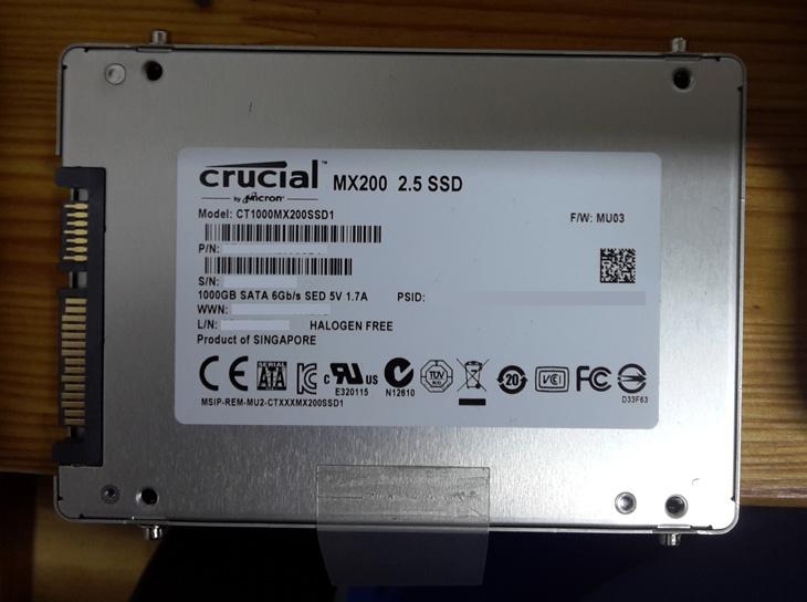 SSD Crucial Mx200 de 1Tb