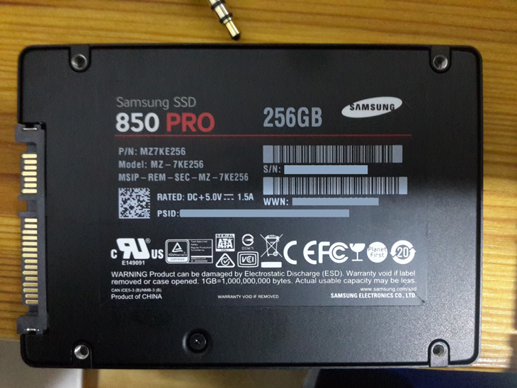 Samsung SSD 850 Pro de 256 Gb