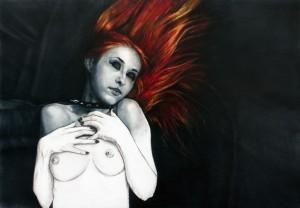 Aerografía, Fire Woman, cuadros en venta