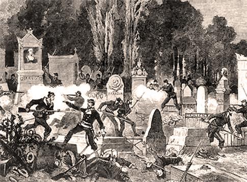 Agonía de la Comuna, últimas luchas en el Cementerio de Pere