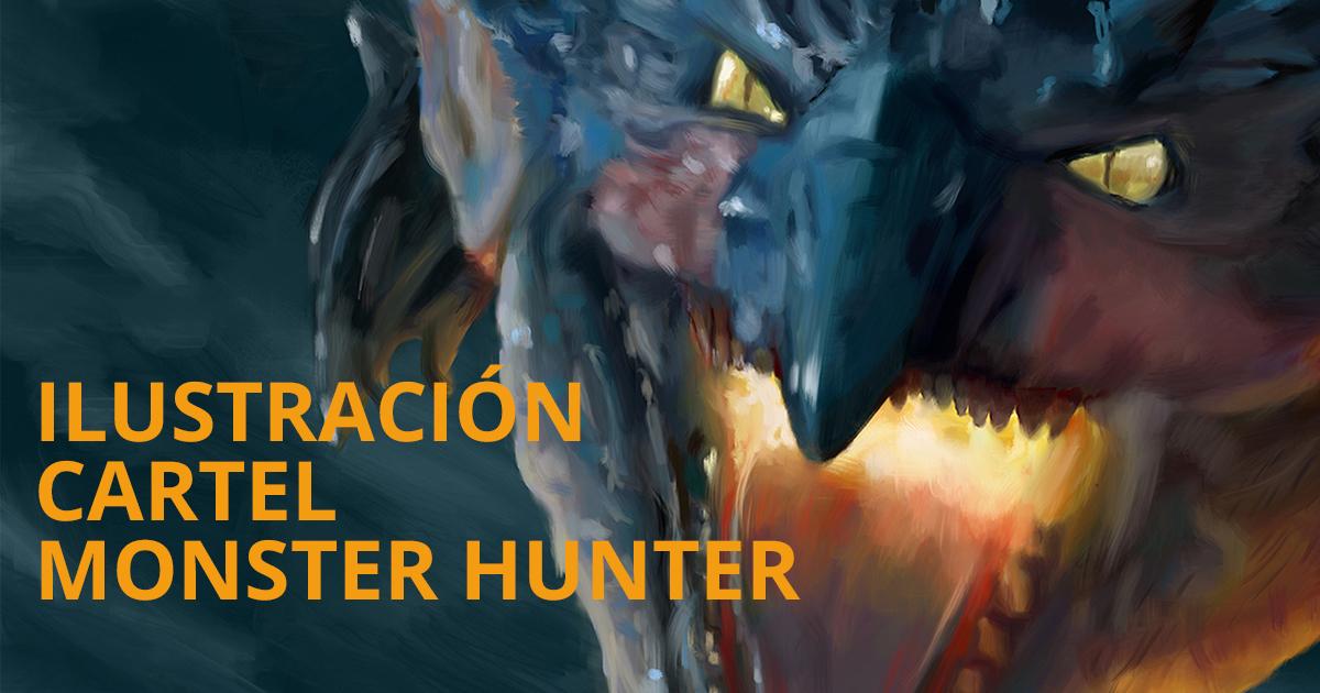 Cabecera Ilustración para cartel de la película Monster Hunter
