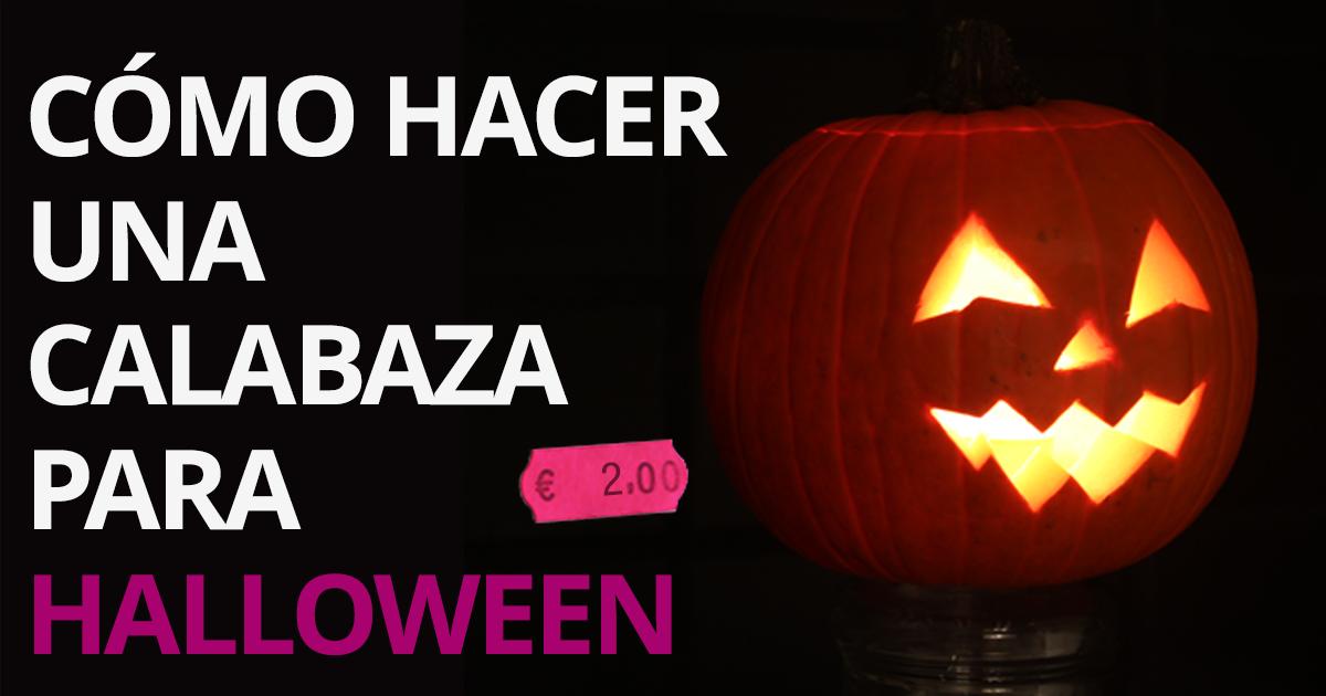 C mo hacer una calabaza de halloween muy f cil - Como hacer calabazas de halloween ...