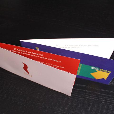 Diseño de invitaciones y entradas en Madrid