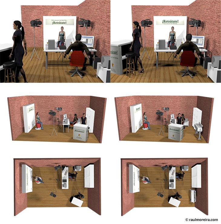 Diseño en 3D de evento para La Granja de San Ildefonso