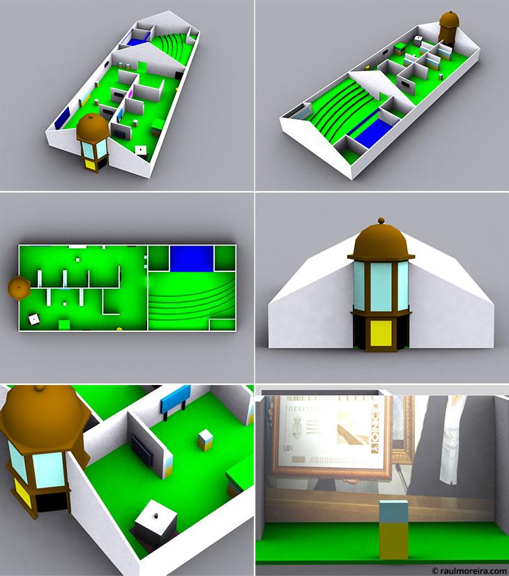 Diseño en 3D de evento con carpa para ONCE.