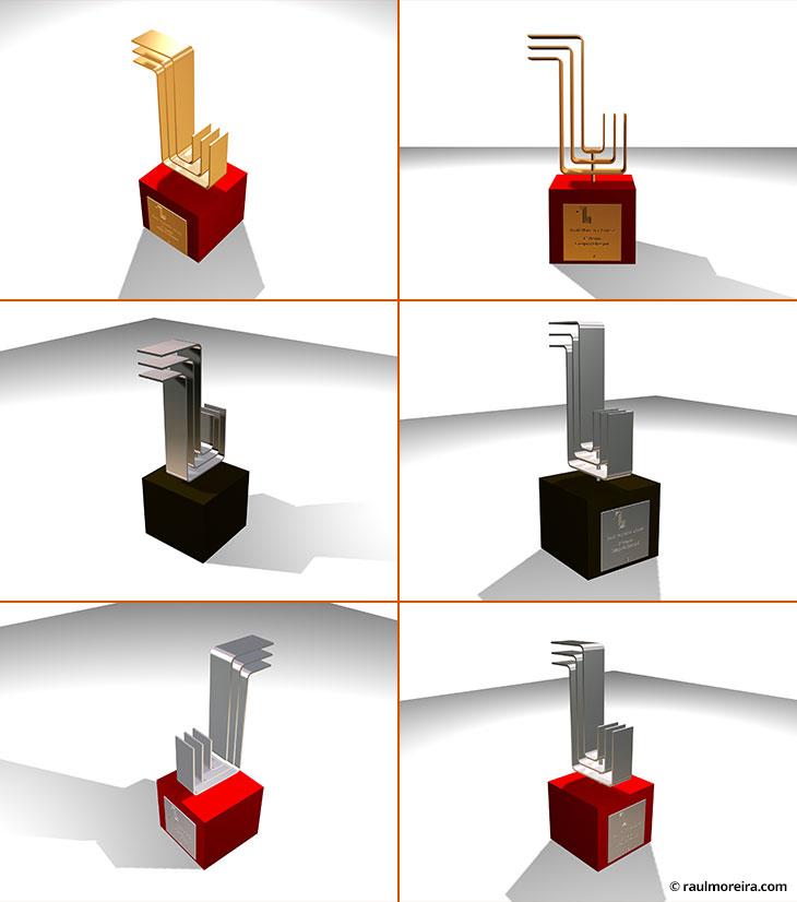 Diseño en 3D de premios para Nokia Cool Hunters