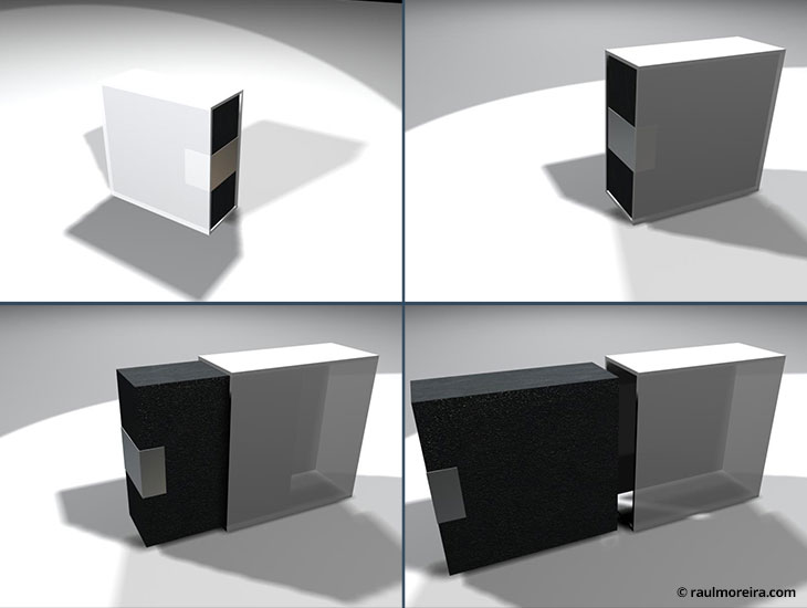Diseño en 3D de packaging para edición limitada Nokia 8800.