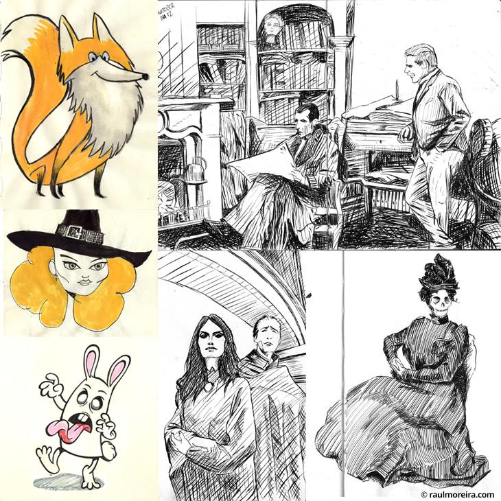 Dibujos a tinta para #inktober por medios tradicionales