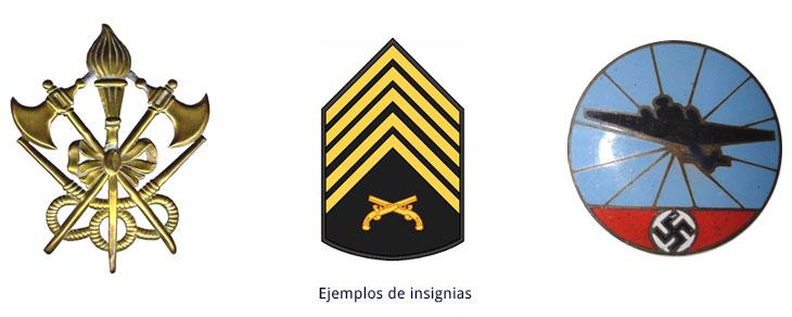 ejemplos de insignias