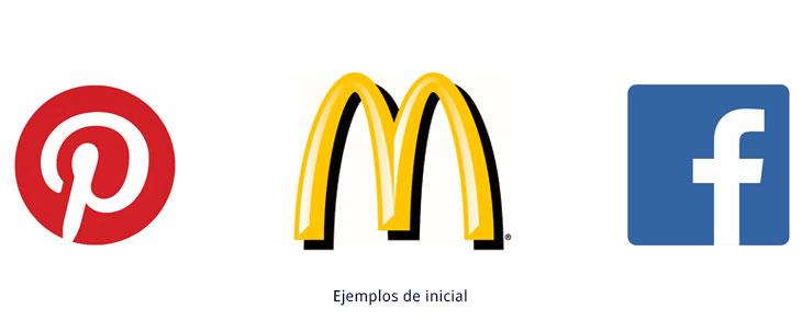 ejemplos de símbolos tipográficos inicial
