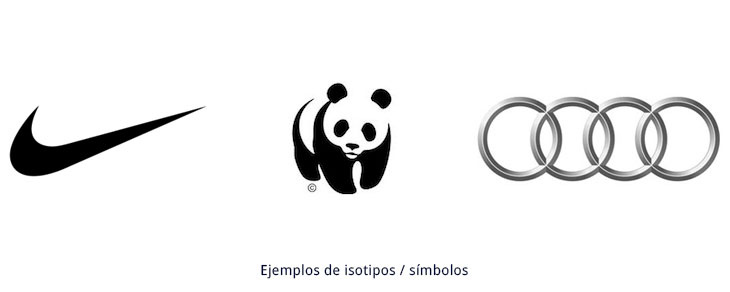 ejemplos de símbolos e isotipos