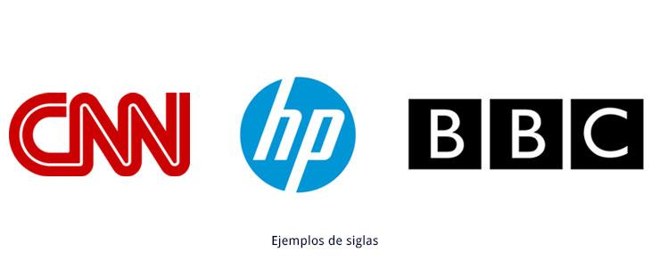 ejemplos de símbolos tipográficos siglas