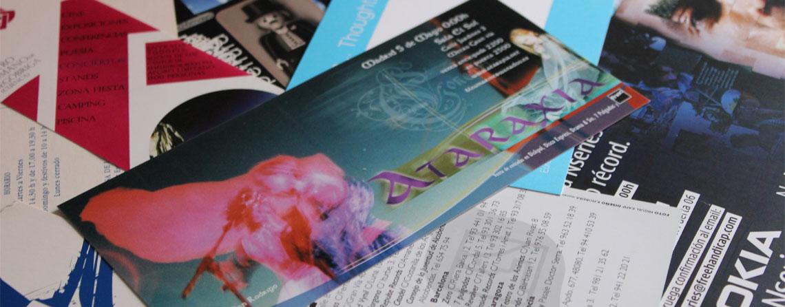 Diseño de flyers, postales, fichas y octavillas