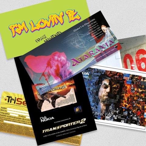 maquetación de flyers, tarjetones, octavillas, postales