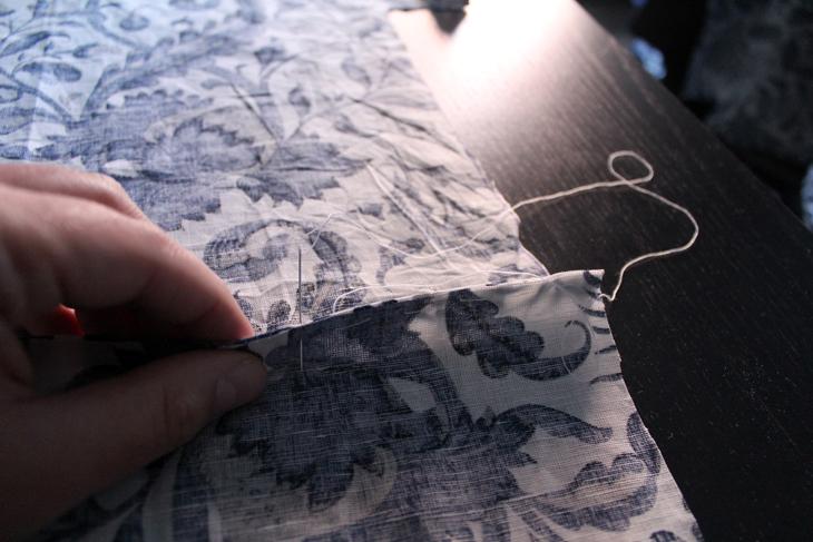 forrar cajas de archivo de cartón con tela