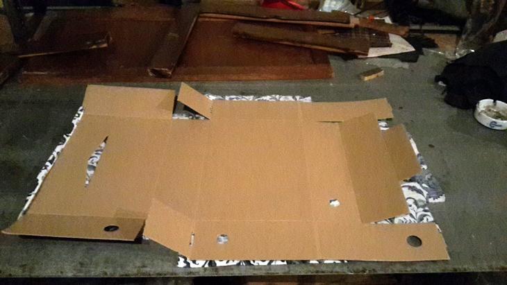 tapizar cajas de cartón