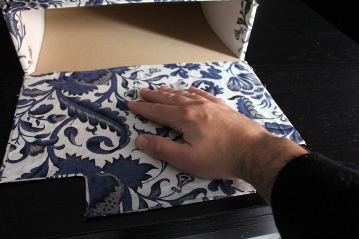 forrar cajas con tela facilmente