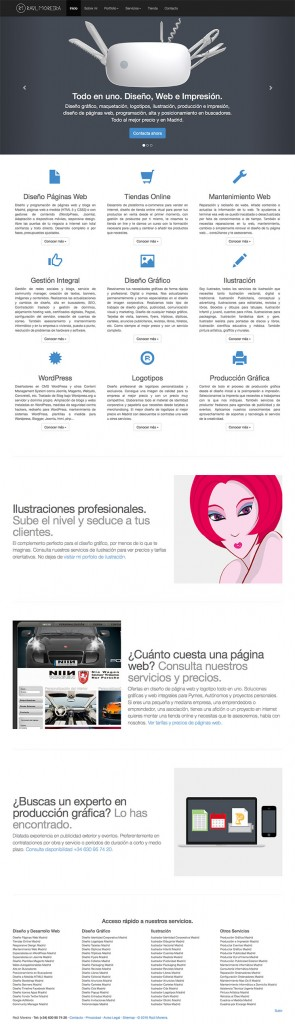 diseñador paginas web Madrid con Bootstrap