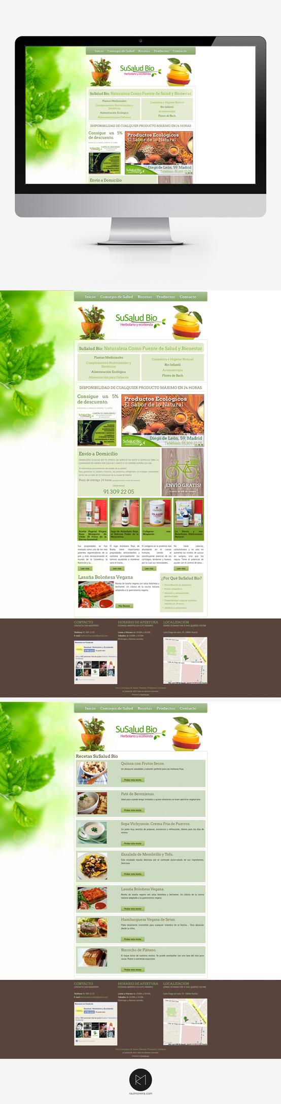 Herbolario Susalud Bio, precio diseño página web