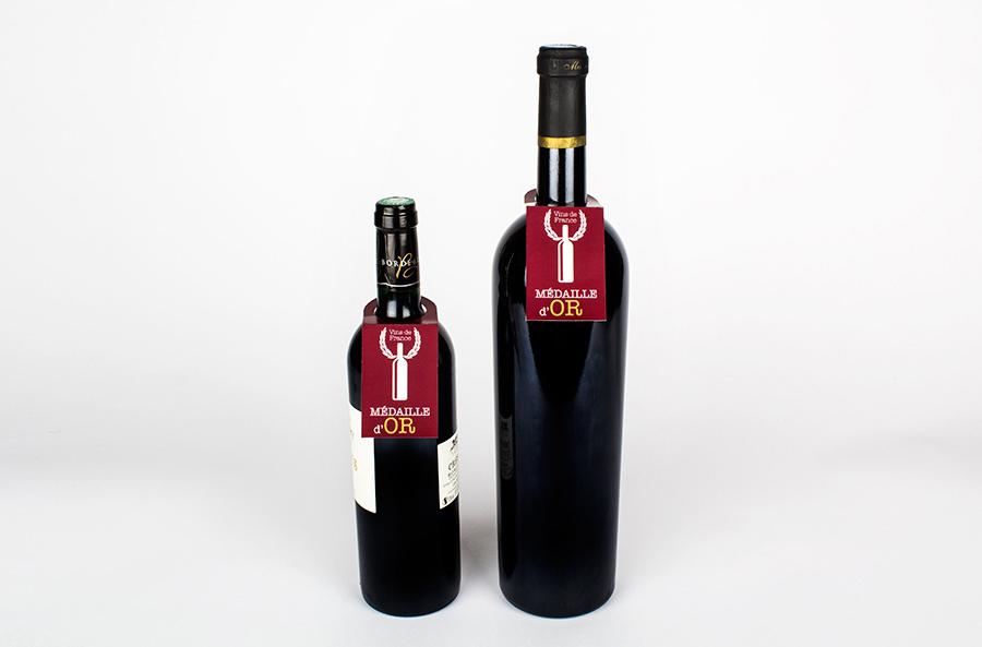 diseñador de collarin botella de vino personalizados para hoteles y restaurantes